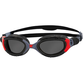 Zoggs Predator Flex Goggles Polarized, black/red/smoke
